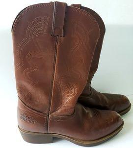 Durango brown cowboy western boots oil resist 10EE